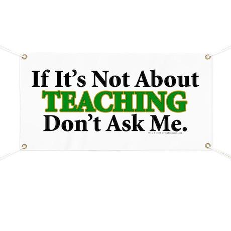 Teaching Banner