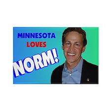 Minnesota loves Norm Coleman Rectangle Magnet