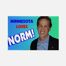 Minnesota loves Norm Coleman Rectangle Magnet
