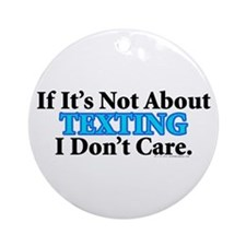 Texting Ornament (Round)