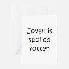Unique Jovan Greeting Card