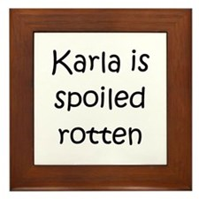 Funny Karla Framed Tile