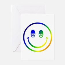 Stoned Smiley Greeting Cards (Pk of 10)