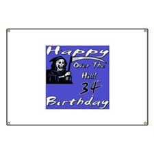 Cute 34th birthday party Banner