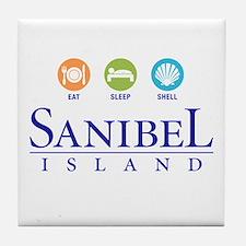 Eat-Sleep-Shell - Tile Coaster