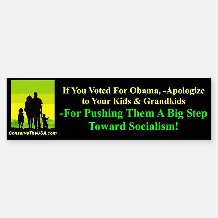 """Apologize To Your Kids"" Bumper Bumper Sticker"