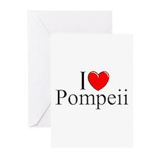 """I Love (Heart) Pompeii"" Greeting Cards (Pk of 10)"