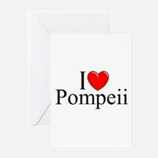 """I Love (Heart) Pompeii"" Greeting Cards (Pk of 10)"