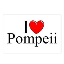 """I Love (Heart) Pompeii"" Postcards (Package of 8)"