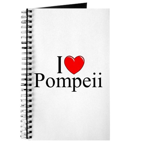 """I Love (Heart) Pompeii"" Journal"