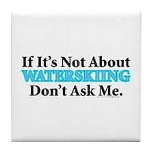 Waterskiing Tile Coaster