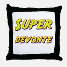 Super devonte Throw Pillow