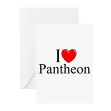 """I Love (Heart) Pantheon"" Greeting Cards (Pk of 10"