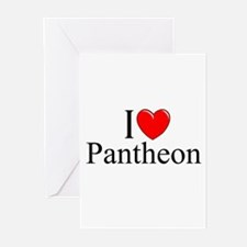 """""""I Love (Heart) Pantheon"""" Greeting Cards (Pk of 10"""