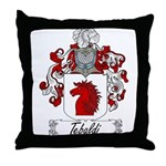 Tebaldi Family Crest Throw Pillow