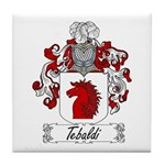 Tebaldi Family Crest Tile Coaster
