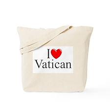 """""""I Love (Heart) Vatican"""" Tote Bag"""