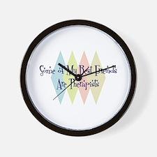 Therapists Friends Wall Clock