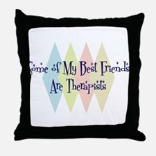 Therapists Friends Throw Pillow
