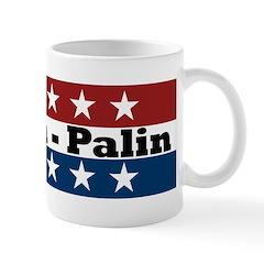 RWB w/Stars McCain/Palin Mug