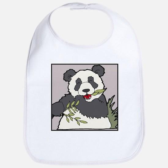 Panda with Bamboo Bib