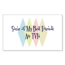 TVIs Friends Rectangle Decal