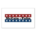 RWB w/Stars McCain-Palin Rectangle Sticker 50 pk)