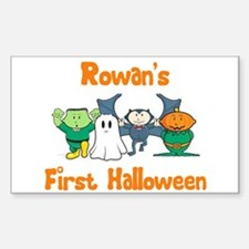 Rowan's First Halloween Rectangle Decal