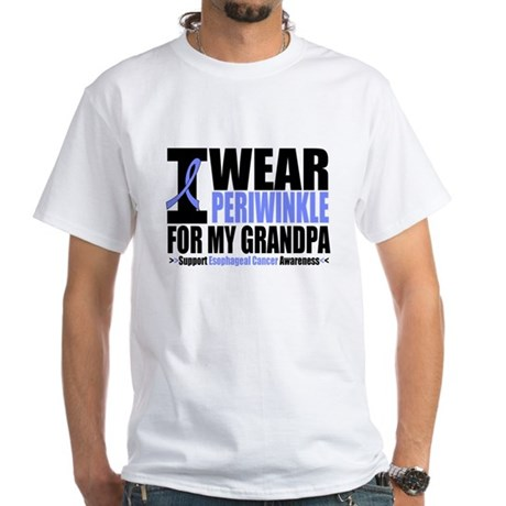 Esophageal Cancer White T-Shirt