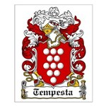 Tempesta Family Crest Small Poster