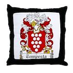 Tempesta Family Crest Throw Pillow