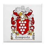 Tempesta Family Crest Tile Coaster
