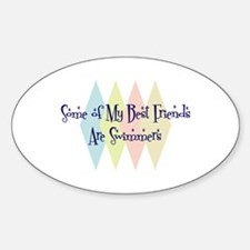 Swimmers Friends Oval Decal