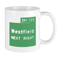 Exit 135 Westfield NJ GSP Small Mug