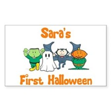 Sara's First Halloween Rectangle Decal