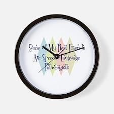 Speech-Language Pathologists Friends Wall Clock