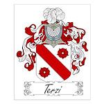 Terzi Family Crest Small Poster