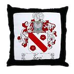 Terzi Family Crest Throw Pillow