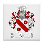 Terzi Family Crest Tile Coaster