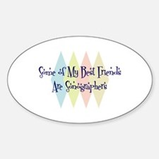 Sonographers Friends Oval Decal
