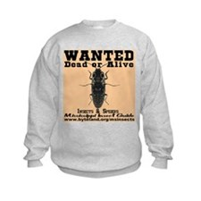Mississippi Insect Guide Wanted Poster Sweatshirt
