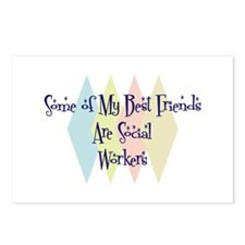Social Workers Friends Postcards (Package of 8)