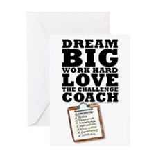 Thanks Coach! Dream Big #1419 Greeting Card