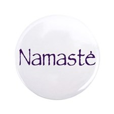 """Namaste in Sacred Purple 3.5"""" Button (100 pac"""