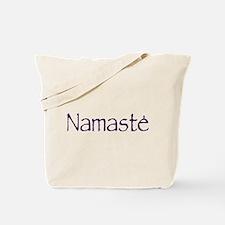 Namaste in Sacred Purple Tote Bag