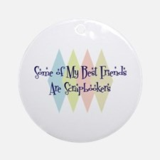 Scrapbookers Friends Ornament (Round)