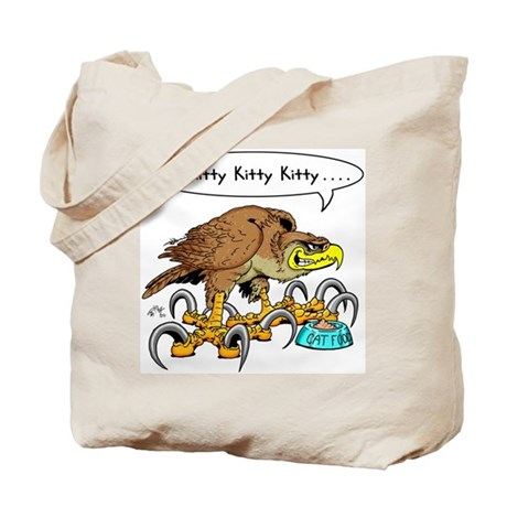Hawk Calling Kitty Tote Bag