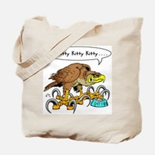 Hawk Calling Kitty Tote Bag