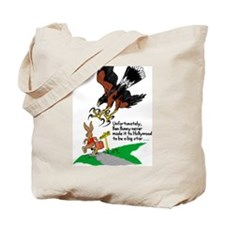 Harris Hawk and Bunny Tote Bag
