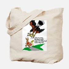 Harris Hawk and Bunny Tote Bag